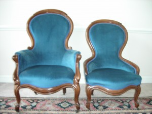 Victorian Gentleman's (L) and Lady's (R) Chairs